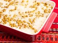 Печен грах с ориз в тава на фурна (гарнитура)